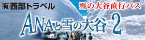 ANAと雪の大谷(雪の大谷直行バスツアー)